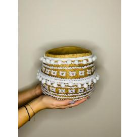 osłonka boho kosz ceramiczna